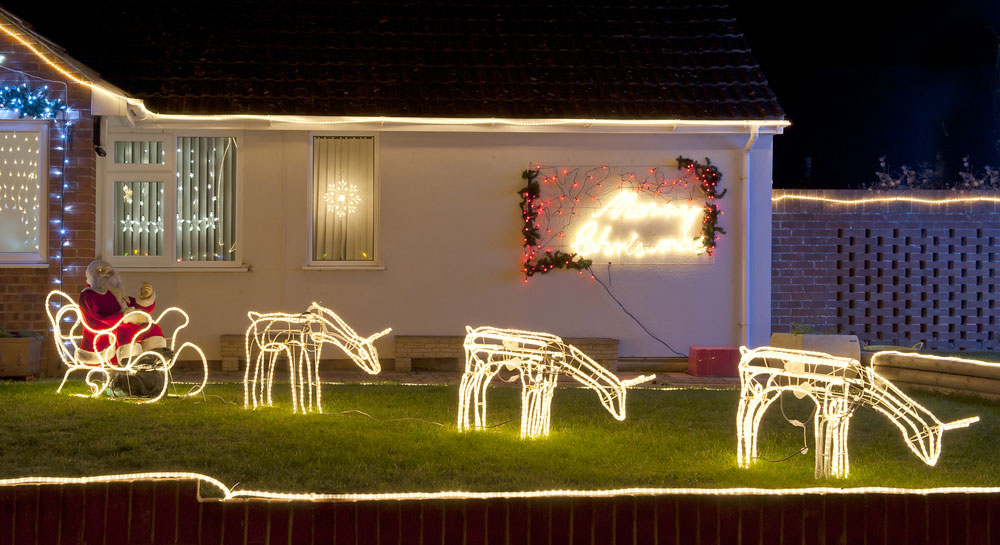 Christmas lights home decoration