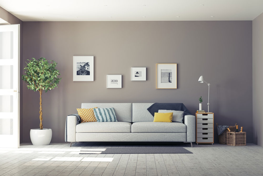 Contemporary styled living room