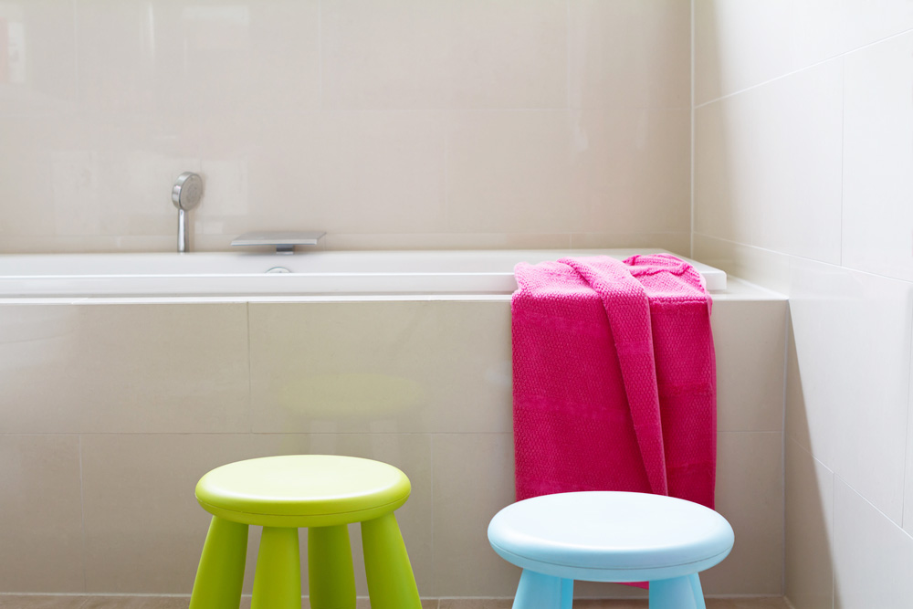 Stylish Kids Spaces - Tiled Bathroom Walls